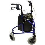 Three Wheeled Walker With Shopping Bag And Basket