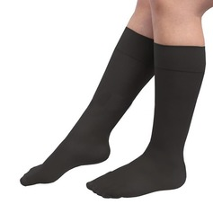 Ribbed Nylon Graduated Compression Socks (1 Pair Pack)