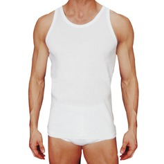 Men's Interlock Vests, 2 Garments Per Pack