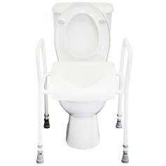 Two in One Raised Toilet Seat Frame