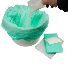 Disposable Bed Pan Bags and Gel