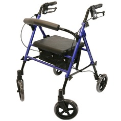 Adjustable Height Four Wheeled Rollator