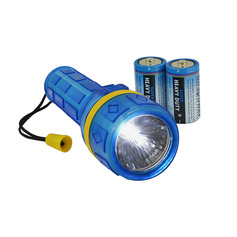 Broad Grip LED Torch with 2 x D Batteries