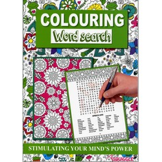 Colour Therapy Book with Word Search