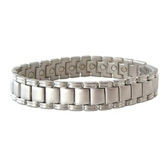 Magnetic Stainless Steel Link Bracelet 'Apollo'