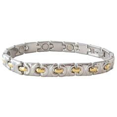 Magnetic Stainless Steel Link Bracelet 'Neptune'