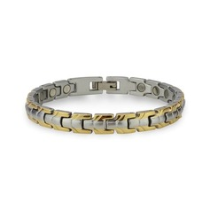 Magnetic Stainless Steel Link Bracelet Saturn- Medium