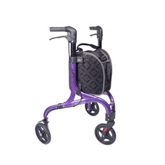 Three Wheeled Walker With Shopping Bag
